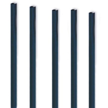 """MasterBind Navy Blue 11"""" Soft Covers Binding Channels - 25/BX"""