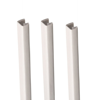 """MasterBind White 11"""" Soft Covers Binding Channels - 25/BX. For the best binding finish, be sure to use the MasterBind Atlas 150 along with any of the MasterBind soft covers."""