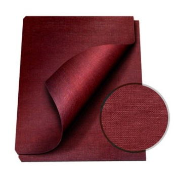 """MasterBind Maroon 8.5 x 11"""" Linen Soft Covers - 100pk. MasterBind Soft Linen Covers provides the traditional presentation with the soft, classic feel. The 8.5 x 11"""" features an elegant display that ensures a great depth of quality and are sure to set your project or report apart from the rest. The MasterBind Soft Linen Covers are designed and constructed for easy personalization like offset printing, silk screening, foil stamping, embossing, scored, folded, or even glued. It features three unique and stylish color selection including black, navy and maroon. Enhance your reports with this simple but premium soft linen covers today."""