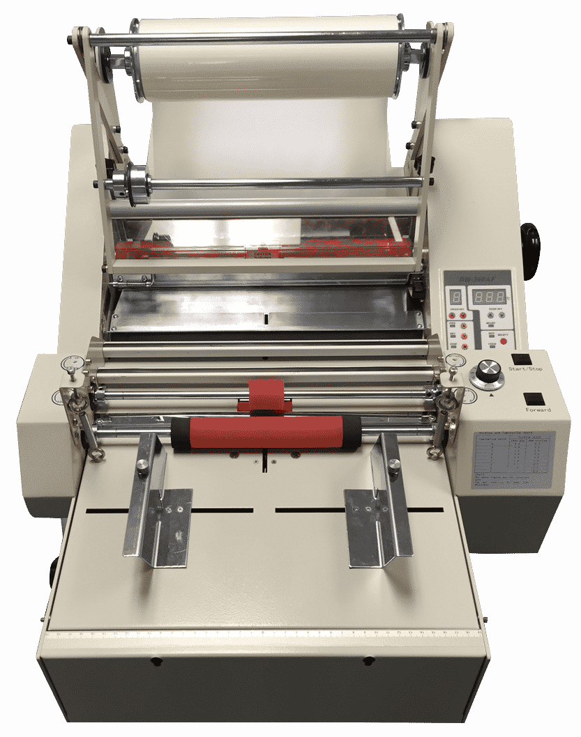 Automatic roll laminator machine, laminator rolls