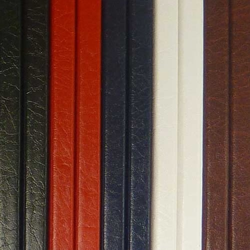 Masterbind USA's Mundial Metalbind book cover in leather for Atlas book binding machine.