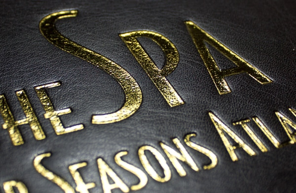 Foil stamping created by the Goldpress 4+ by Masterbind USA